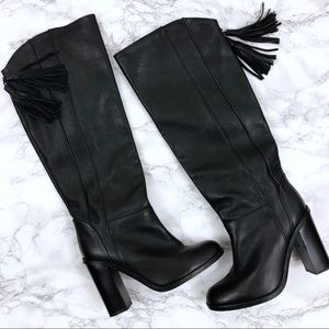 Zara Basic Collection Faux Leather Knee High Boots